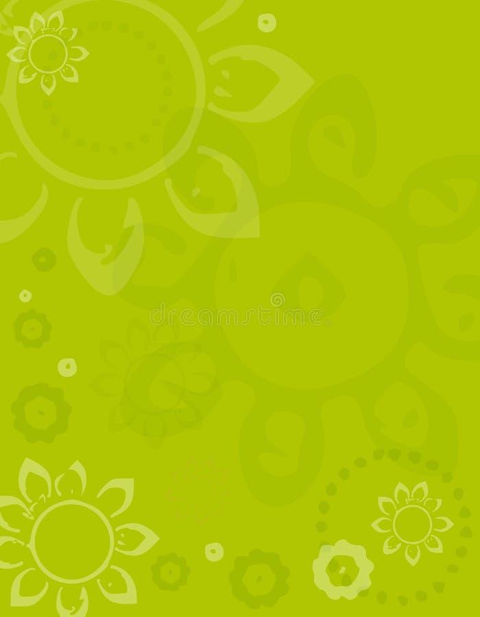 Fondo verde de la flor de Artsy del resorte ilustración del vector