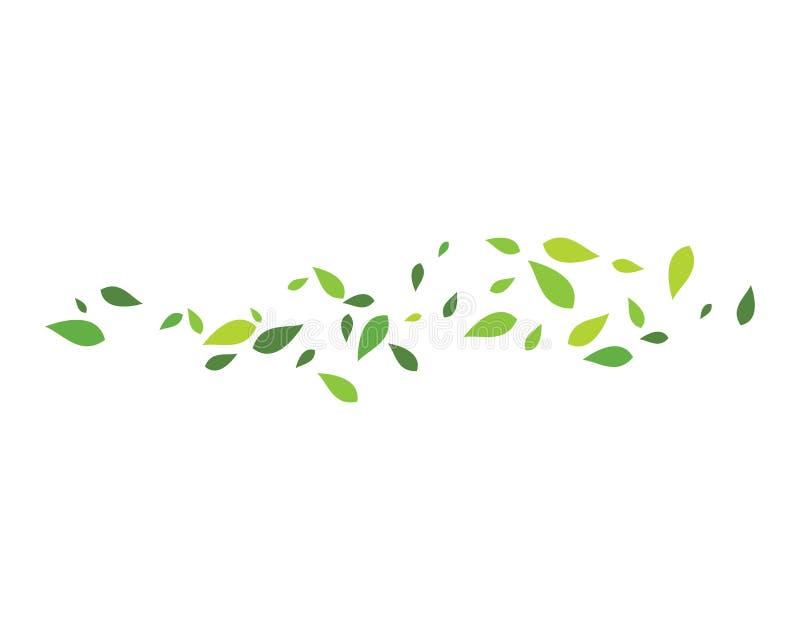 Fondo verde de la hoja ilustración del vector