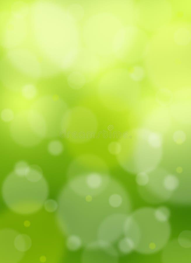 Fondo verde de la luz del extracto del bokeh foto de archivo