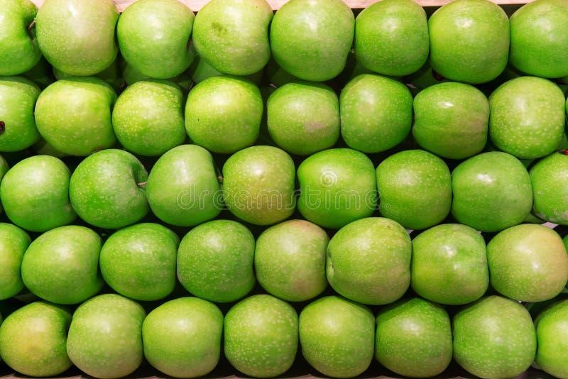 Fondo verde de la manzana imagen de archivo libre de regalías
