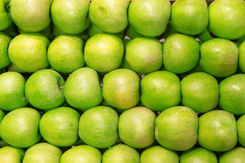 Fondo verde de la manzana foto de archivo