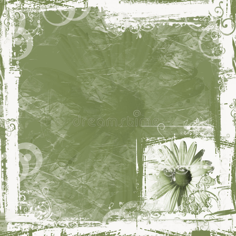 Fondo verde de la margarita ilustración del vector