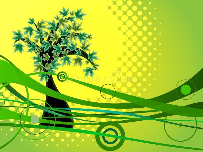 Fondo verde de la naturaleza stock de ilustración