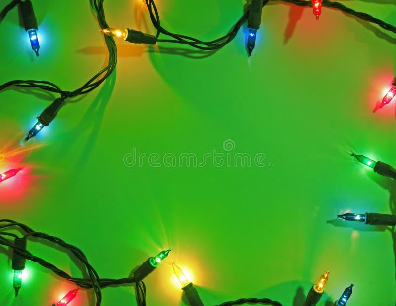 Fondo verde de la Navidad imagen de archivo