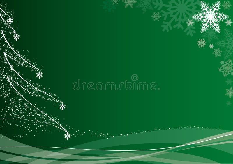 Fondo verde de la Navidad ilustración del vector