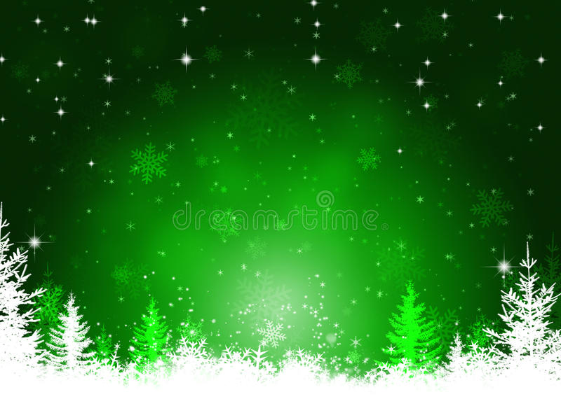 Fondo verde de la Navidad del invierno stock de ilustración