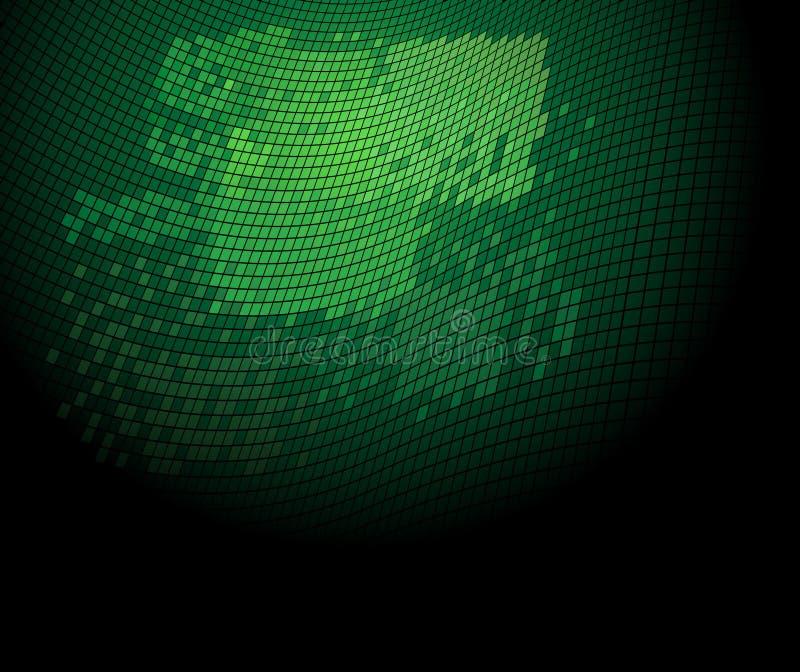 Fondo verde de la tecnología stock de ilustración