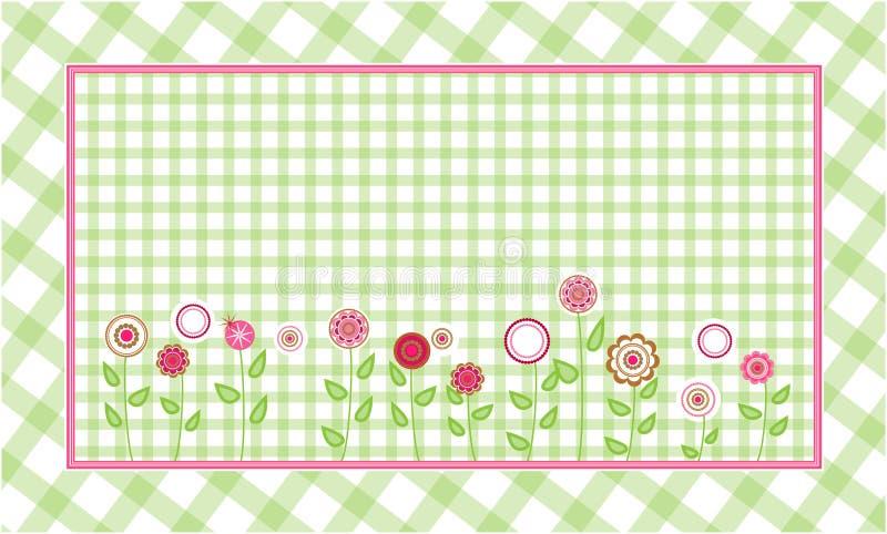 Fondo verde de la tela escocesa libre illustration
