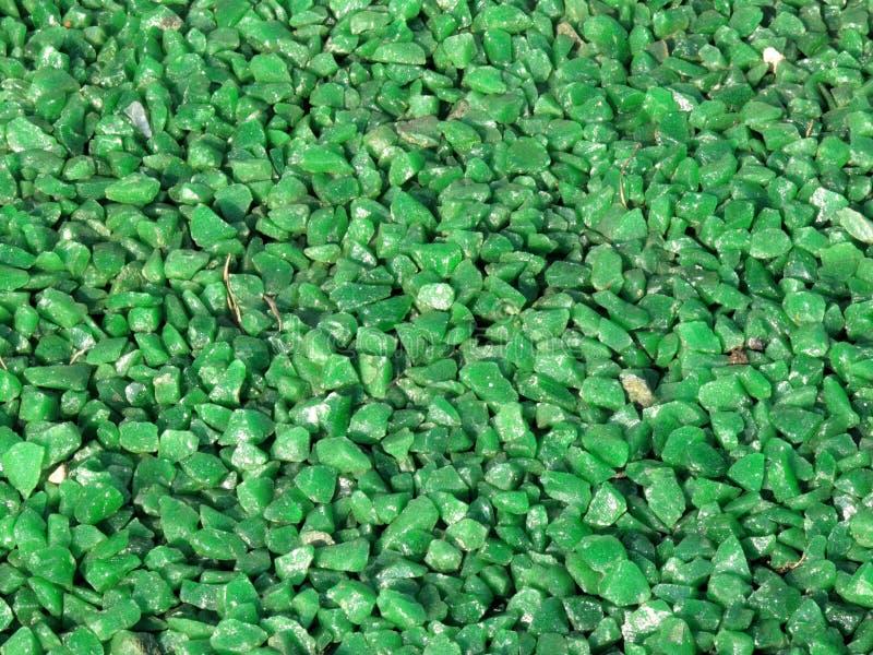 Fondo verde de los Chippings del granito imagenes de archivo