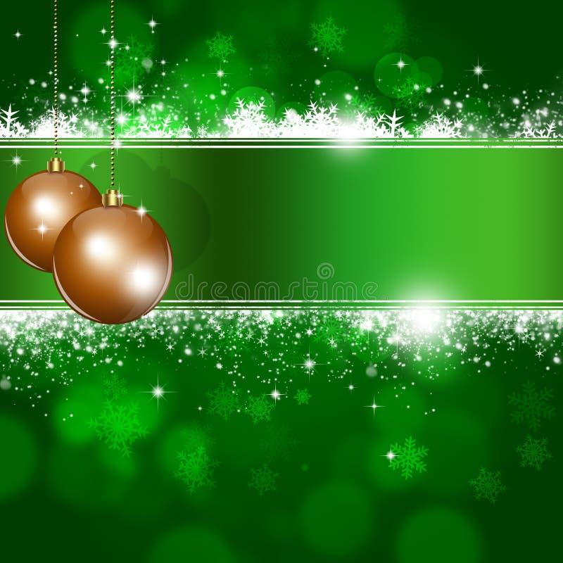 Fondo verde de Navidad ilustración del vector