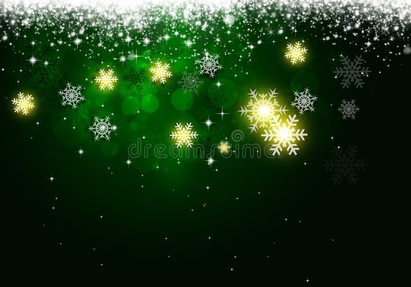 Fondo verde de Navidad del día de fiesta ilustración del vector