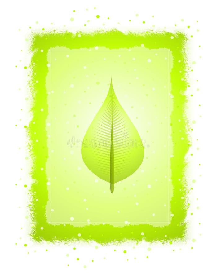 Fondo verde de papel de la hoja ilustración del vector