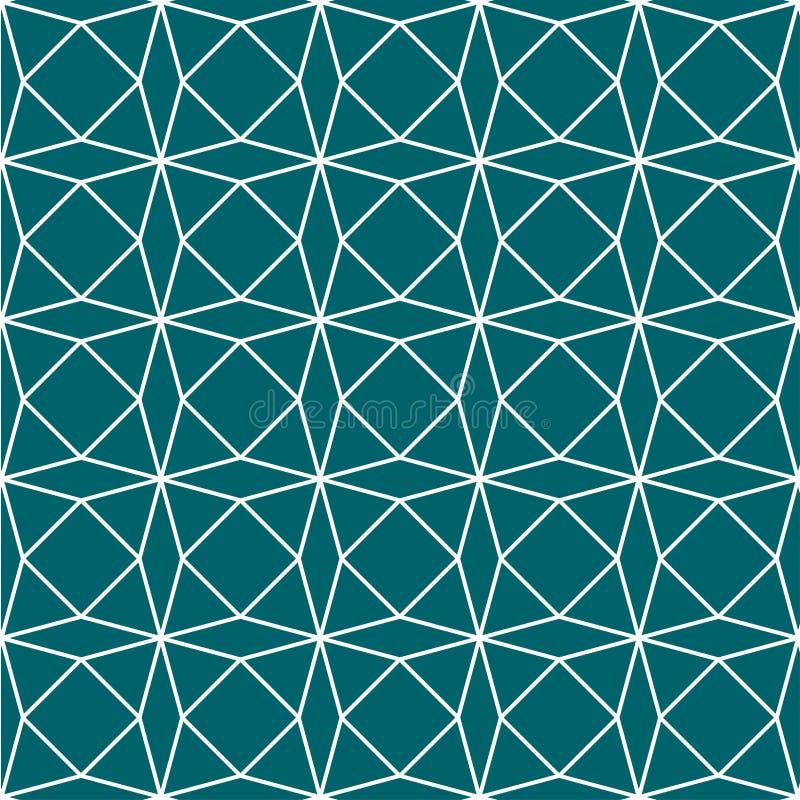 Fondo verde de Teal Geometric Paper Pattern Seamless Ilustración del vector stock de ilustración