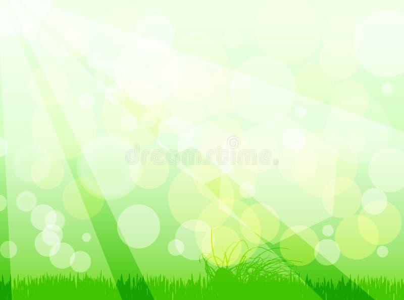 Fondo verde del bokeh libre illustration