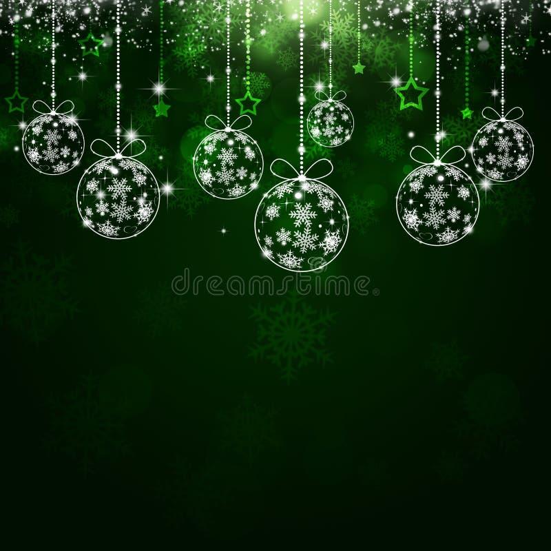 Fondo verde del día de fiesta de Navidad libre illustration