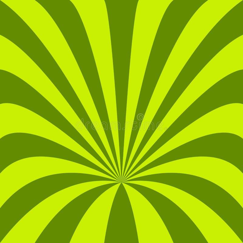 Fondo verde del embudo - vector el diseño de rayos curvados libre illustration