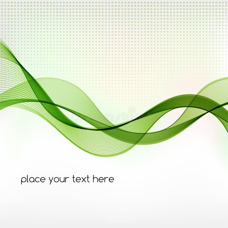 Fondo verde del extracto de la onda del humo libre illustration