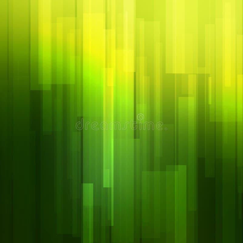 Fondo verde del extracto del vector con las líneas