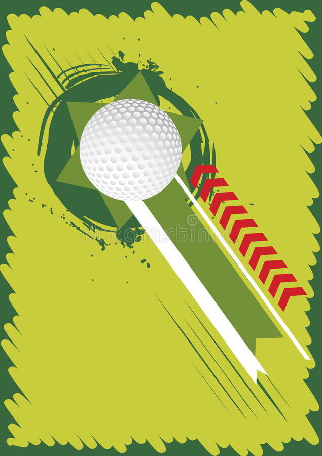 Fondo verde del golf para el cartel stock de ilustración
