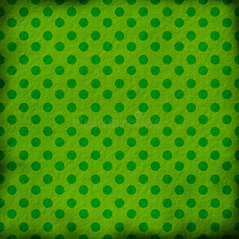Fondo verde del grunge con los puntos stock de ilustración