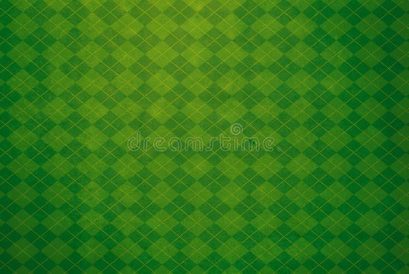 Fondo texturizado Argyle verde foto de archivo libre de regalías