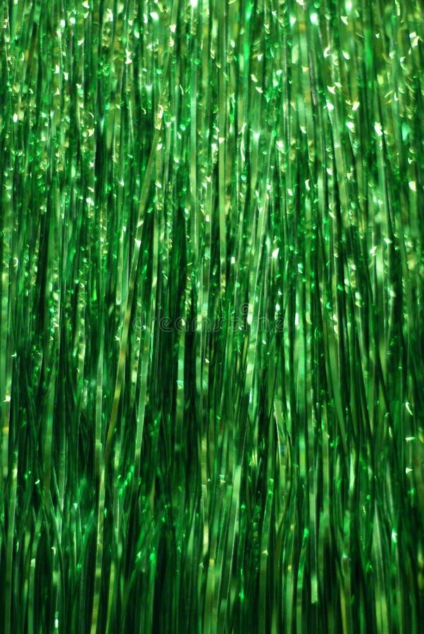 Fondo verde del oropel foto de archivo libre de regalías
