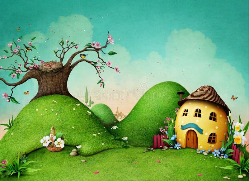 Fondo verde del resorte stock de ilustración
