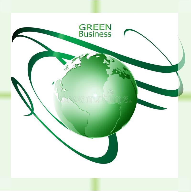Fondo verde del rizo de Vector_Green del fondo del negocio imagen de archivo
