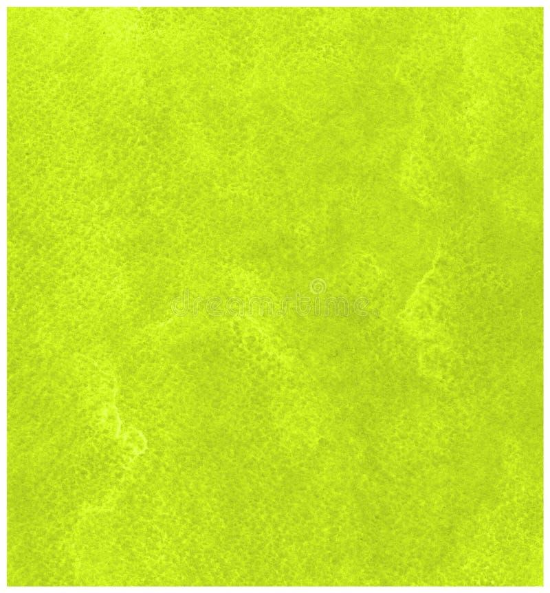 Fondo verde dell'acquerello su struttura di carta royalty illustrazione gratis