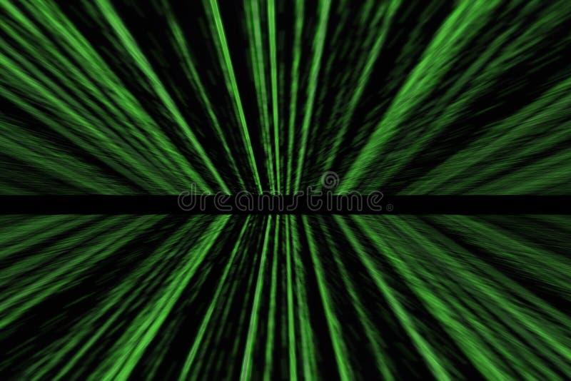 Fondo verde dell'estratto della matrice con la prospettiva illustrazione vettoriale