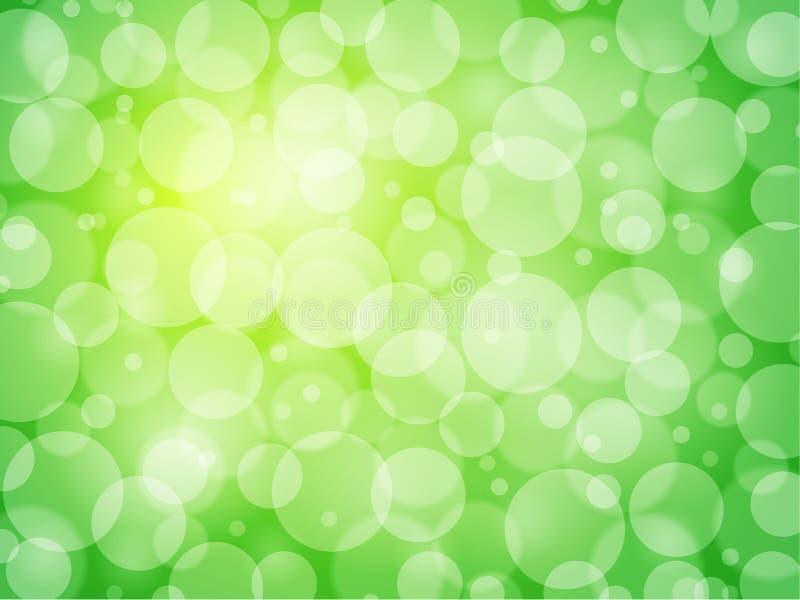 Fondo verde dell'estratto di defocus illustrazione vettoriale