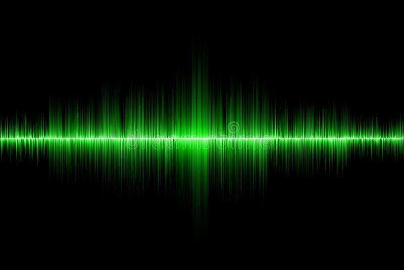 Fondo verde dell'onda sonora fotografia stock libera da diritti