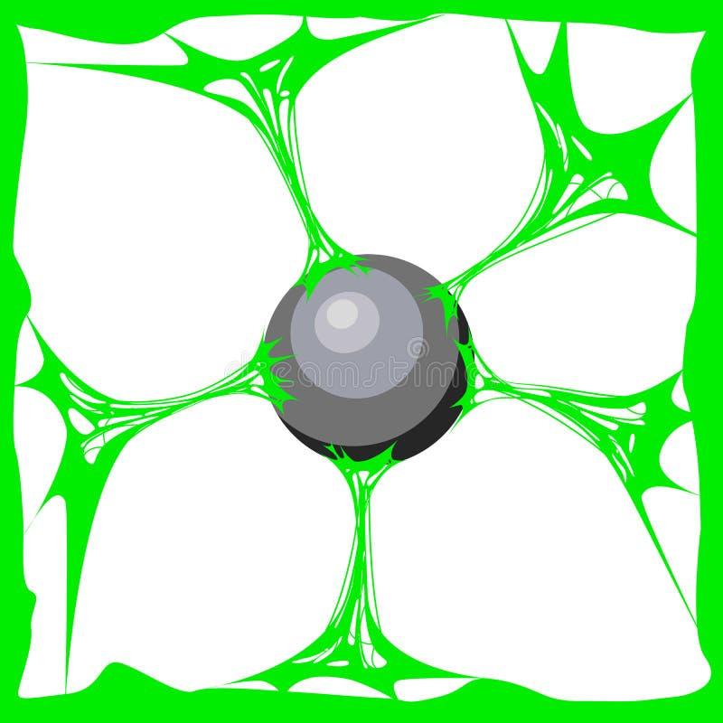 Fondo verde della melma Melma realistica di struttura del fumetto La sostanza di Jelly The della colla è appiccicosa, la tensione illustrazione di stock