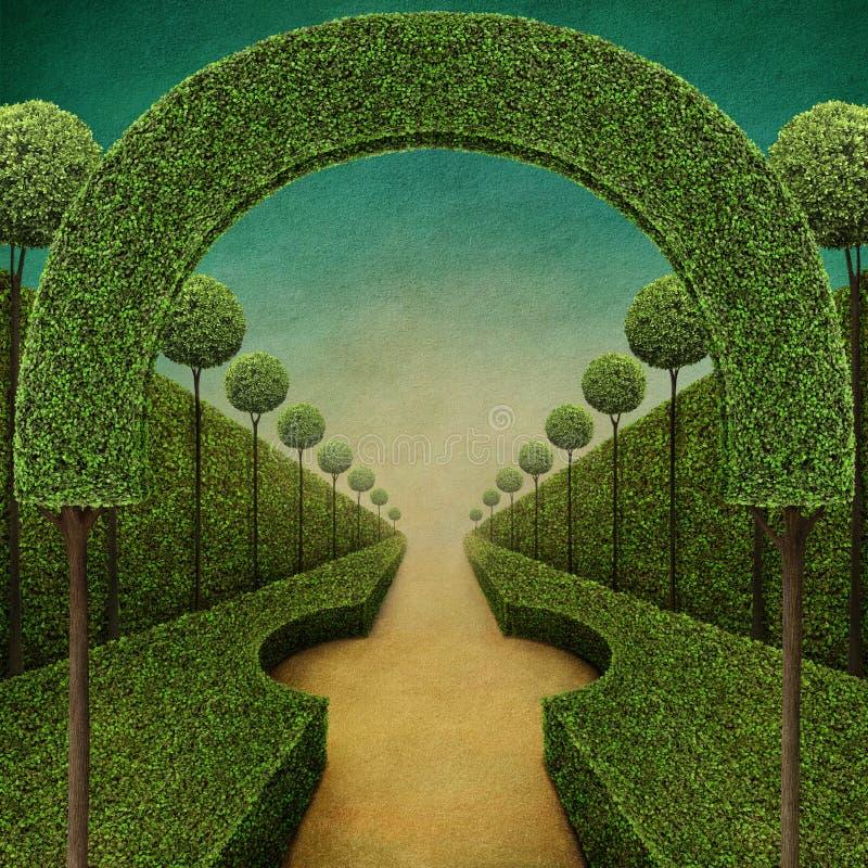 Fondo verde di fiaba royalty illustrazione gratis
