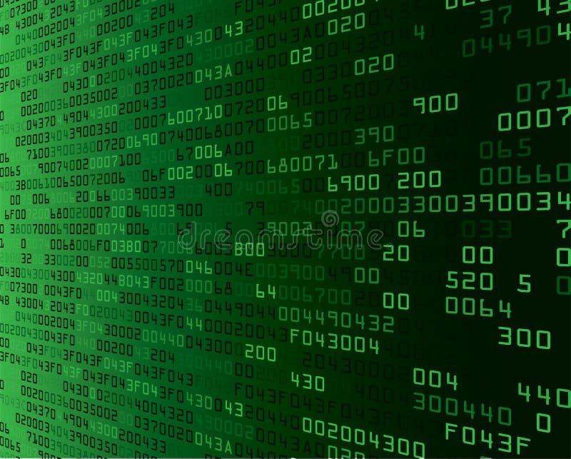 Fondo verde di sicurezza con il Sfortuna-codice illustrazione di stock