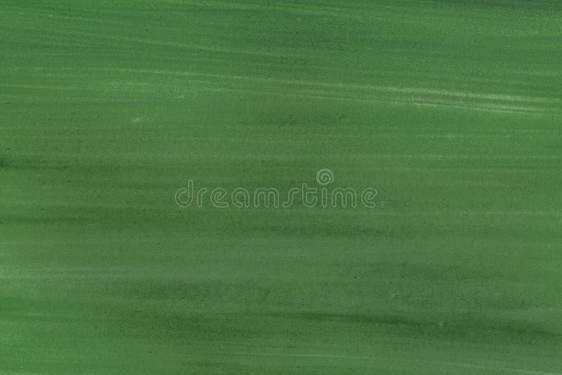 Fondo verde di struttura del colpo del pennello su carta Struttura dell'acquerello per l'opera d'arte creativa di progettazione o immagine stock libera da diritti