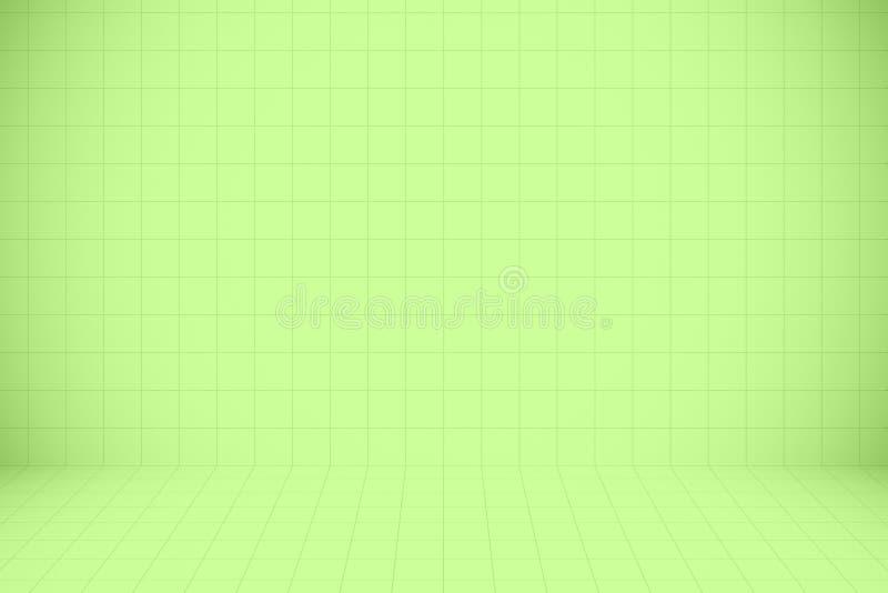Fondo verde di struttura del modello di mosaico per il materiale illustrativo di progettazione immagini stock