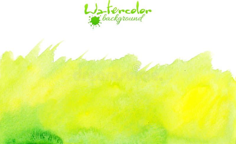 Fondo verde di vettore dell'acquerello illustrazione di stock