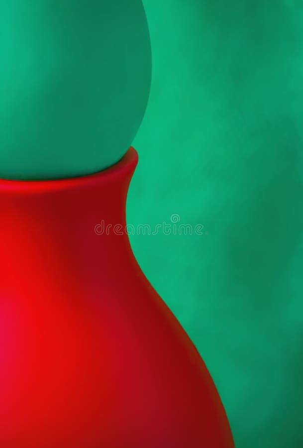 Fondo verde e rosso astratto creativo fotografie stock