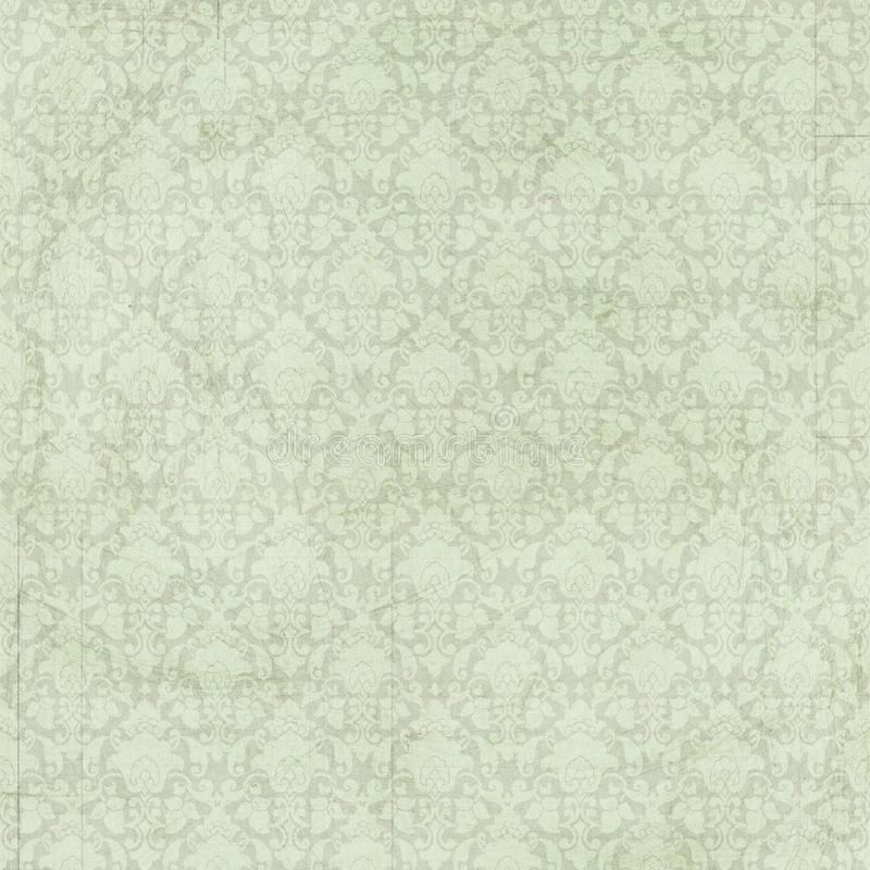 Fondo verde elegante misero d'annata del damasco