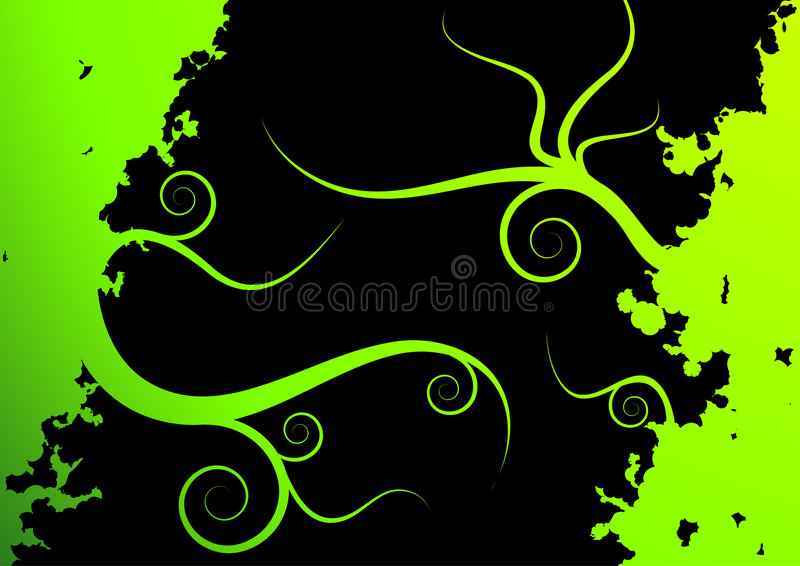 Fondo verde floral del vector ilustración del vector