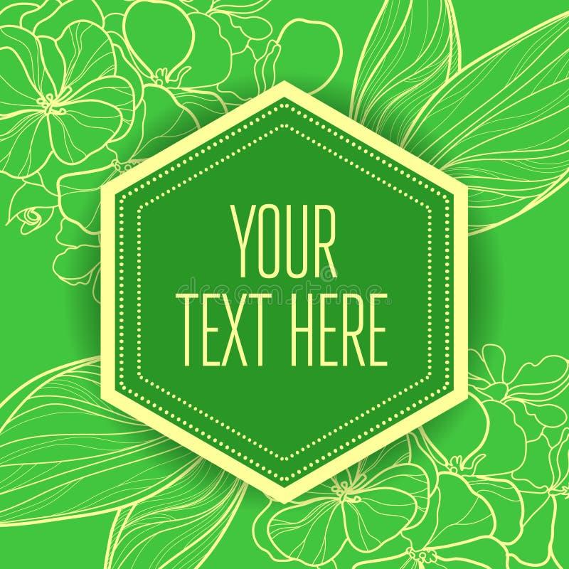 Fondo verde floral del vintage elegante del vector ilustración del vector