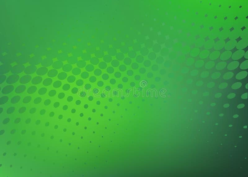 Fondo verde fresco abstracto del gráfico del punto ilustración del vector