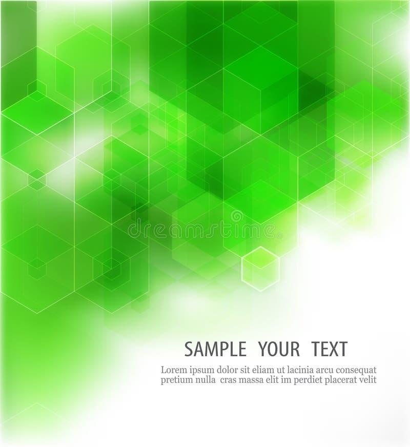 Fondo verde geométrico abstracto, ejemplo del vector ilustración del vector