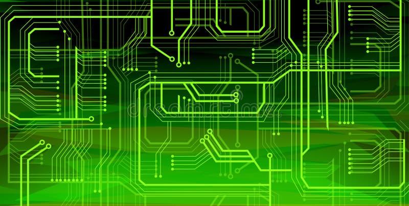 Fondo verde intenso futuristico di tecnologia royalty illustrazione gratis