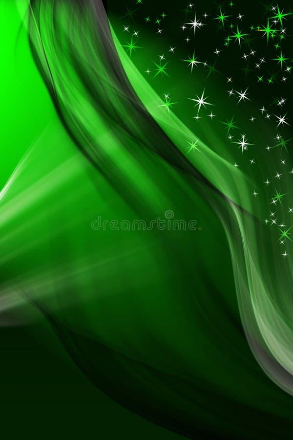Fondo verde mágico del invierno stock de ilustración