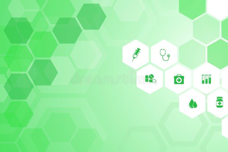 Fondo verde medico illustrazione vettoriale