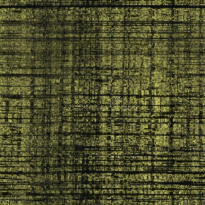 Fondo verde verde oliva del tessuto della tela da imballaggio dell'estratto illustrazione vettoriale