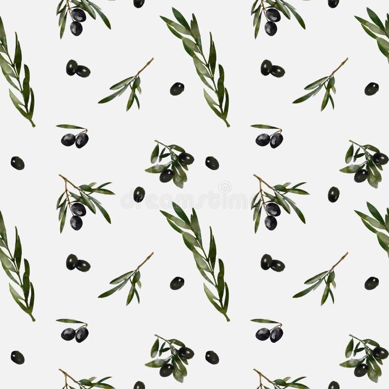 Fondo verde oliva della foglia royalty illustrazione gratis
