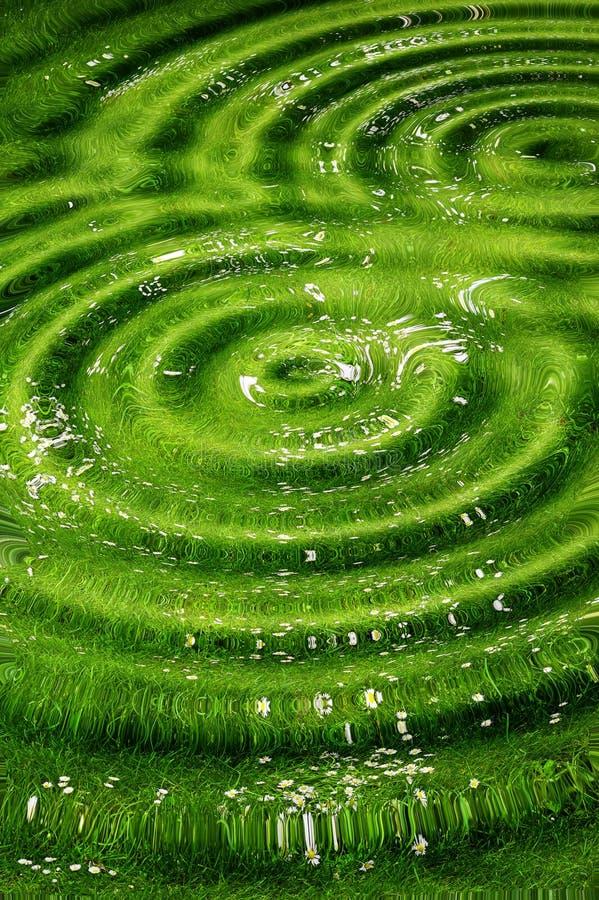 Fondo verde ondulado fotografía de archivo